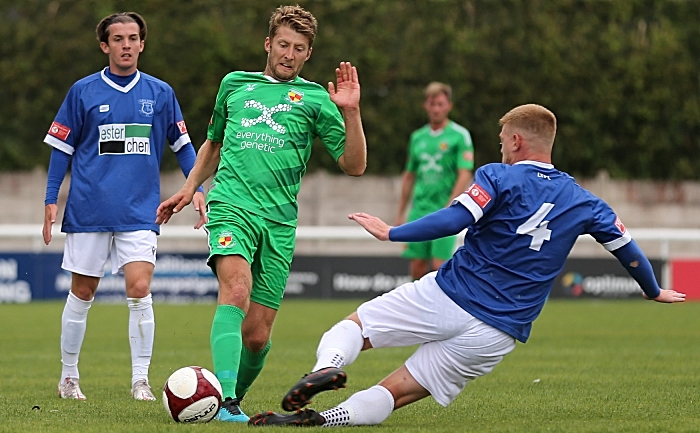 Leek Town - First-half - James Lawrie fights for the ball (2) (1)