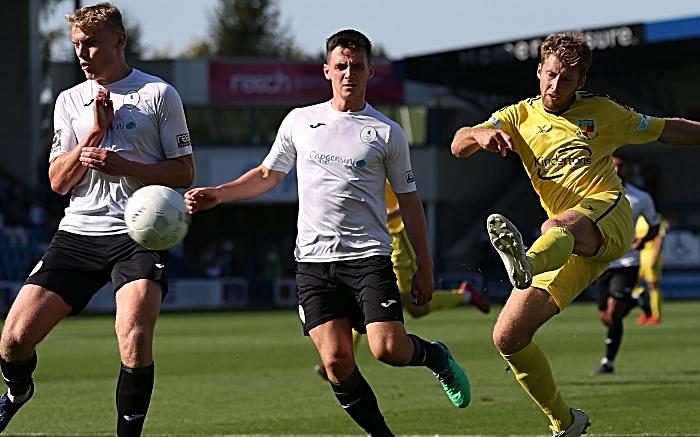 First-half - James Lawrie shoots at goal (1)