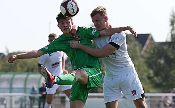 First-half - Joe Malkin battles for the ball under pressure (1)