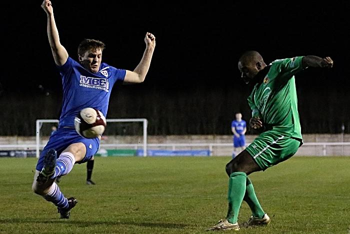 First-half - Joe Mwasile crosses the ball (1)