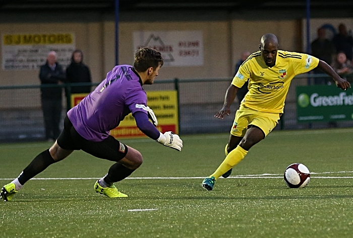 First-half - Joe Mwasile has the keeper to beat (1)