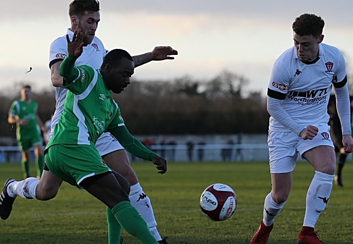 First-half - Joe Mwasile looks to cross the ball (1)