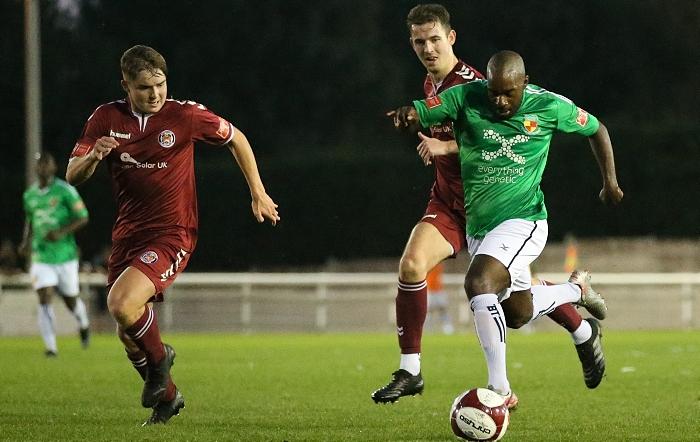 First-half - Joe Mwasile on the attack (1)
