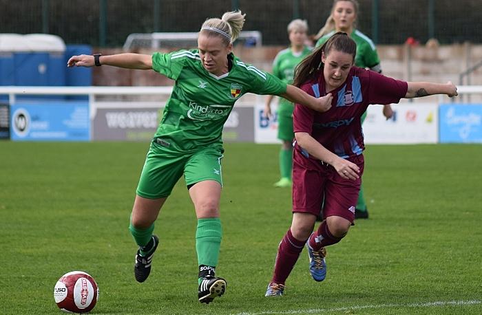 First-half - Kirsty Fisher-Sherratt eyes the ball (1)