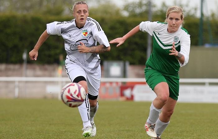 First-half - Marni Williams eyes the ball (1)