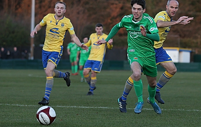 First-half - Matthew Devine eyes the ball v Warrington
