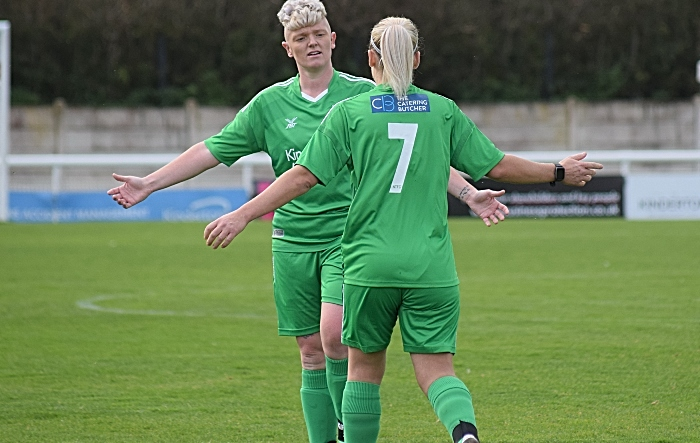 First-half - Nantwich Town Ladies FC celebrate another goal (1)