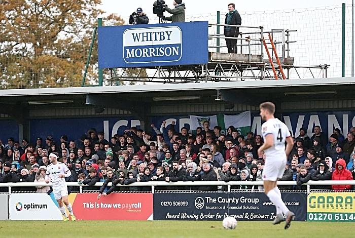 First-half - Nantwich Town fans get behind their team (1)