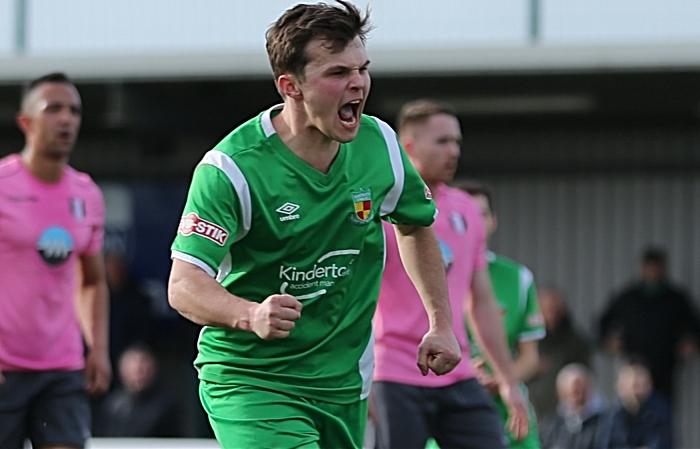 First-half - Nantwich Town goal - Sean Cooke celebrates his penalty (1)