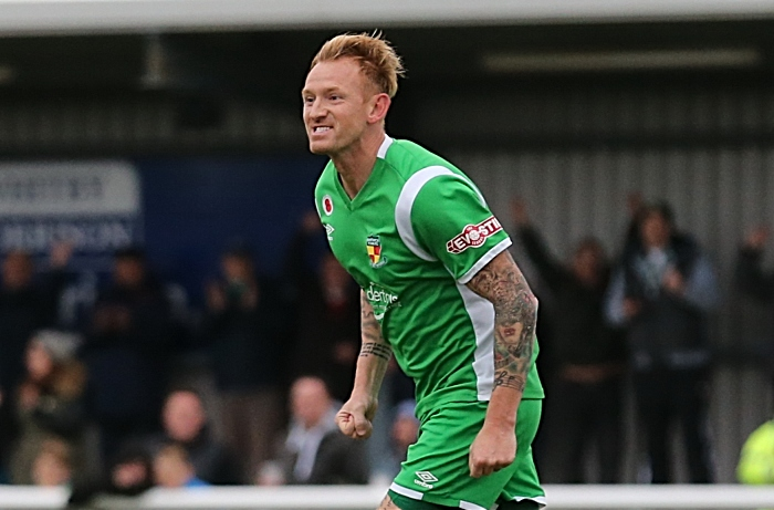 First-half - Nantwich Town goal - Steve Jones celebrates