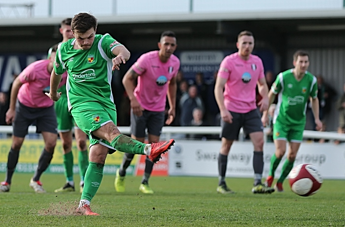 First-half - Nantwich Town goal - penalty from Sean Cooke (1)