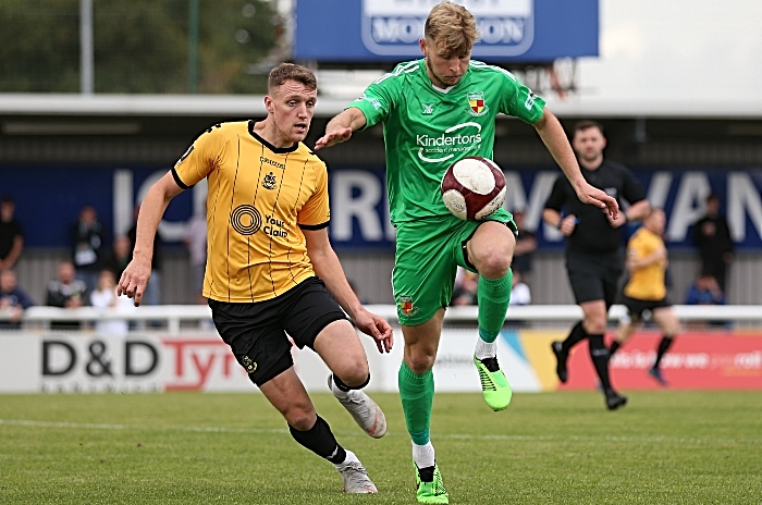 First-half - Nantwich Town on the ball (1)