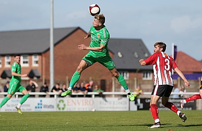 First-half - Nantwich Town win a header (1)