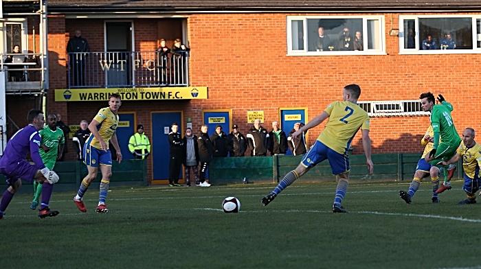First-half - Nantwich goal - Sean Cooke slides it home (1)