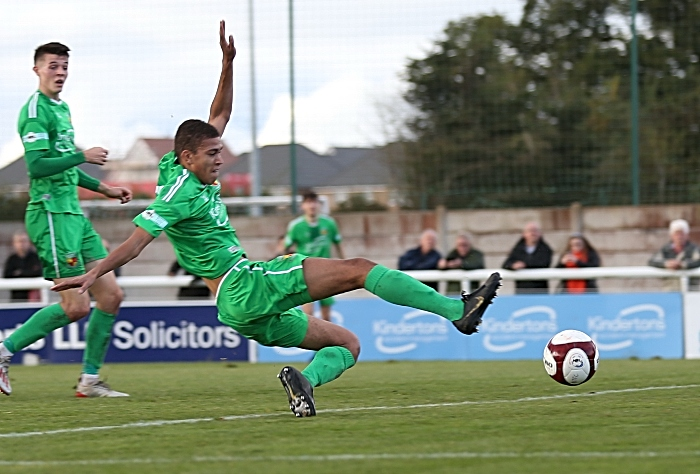 First-half - Nantwich goal - Troy Bourne with his his first ever goal for the Club (1)