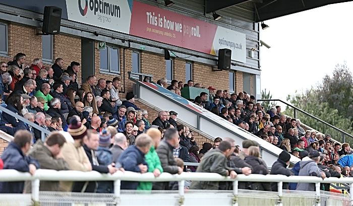 First-half - Optimum Pay Main Stand - Non League Day attendance was 609 (1)