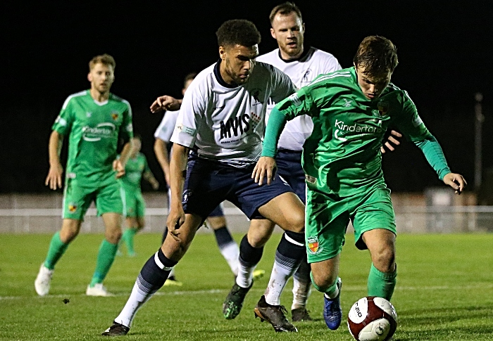 First-half - Sean Cooke on the ball (1)