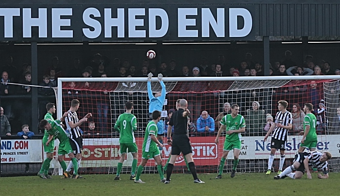 First-half - Will Jaaskelainen saves at The Shed End (1)