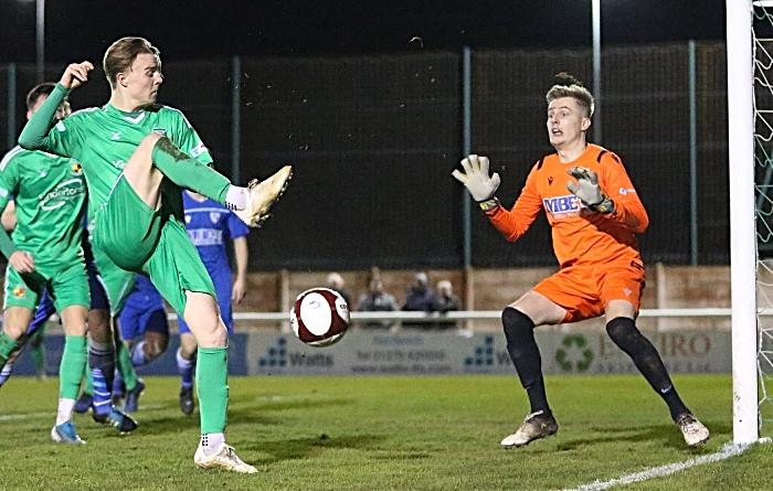 First-half - Will Saxon shoots at goal (1)