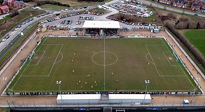 Non-League Day - aerial view nantwich town v scarborough feb 16 2019
