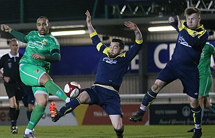First-half - captain Clayton Mcdonald shoots at goal (1)
