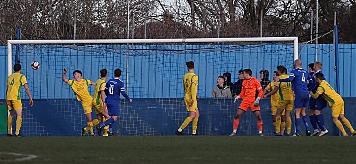 First-half - first Farsley Celtic goal - Adam Clayton