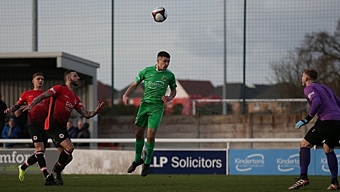 v Hyde First-half - first Nantwich Town goal - Ethon Varian (1)