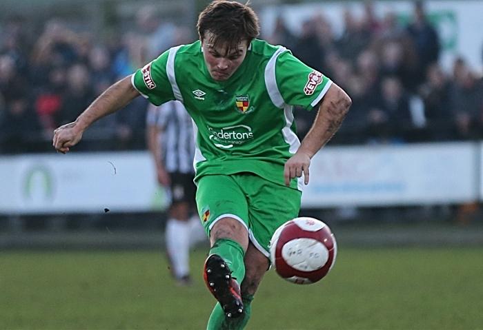 First-half - first Nantwich Town goal - Sean Cooke (1)