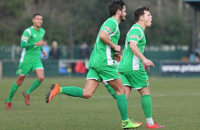 First-half - first Nantwich Town goal - Sean Cooke celebrates his goal (1)