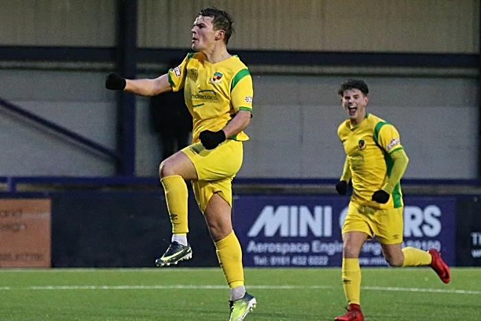 First-half - first Nantwich Town goal - Sean Cooke celebrates