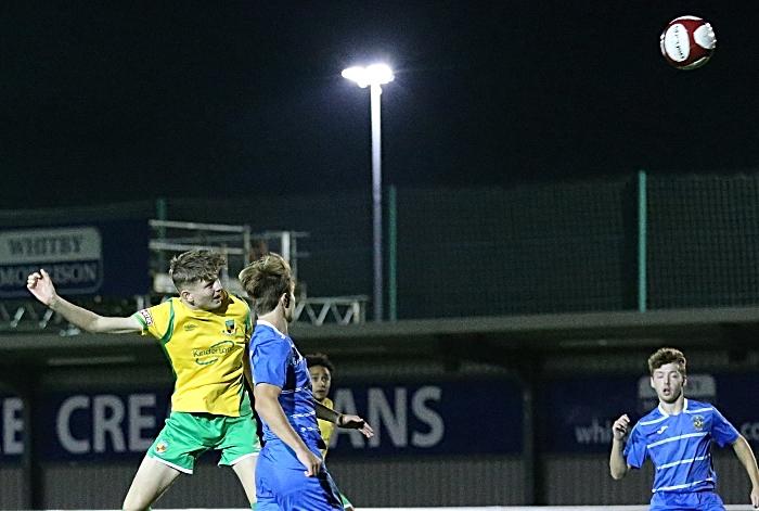 First-half - first Nantwich goal - Callum Parker (1)