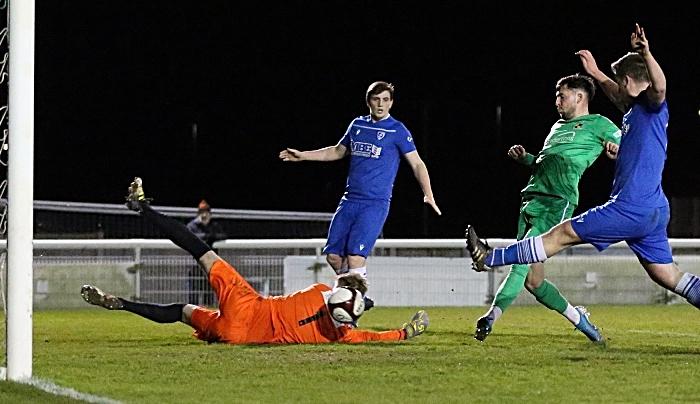 First-half - first Nantwich goal - Callum Saunders opens the scoring (1)