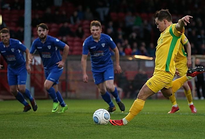 First-half - first Nantwich goal - Sean Cooke penalty (1)
