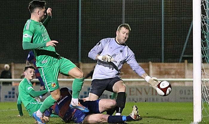 First-half - first and winning goal - Callum Saunders (1)