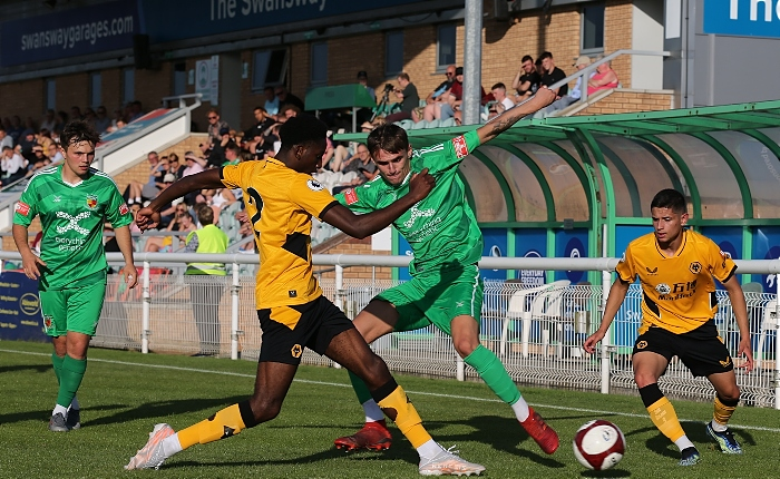 First-half - opposition players fight for the ball (1)