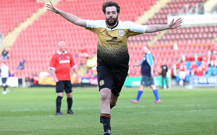 First-half - second Alex Away Shirts goal - Matt Johnson celebrates his goal (1)