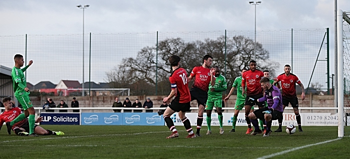 First-half - second Nantwich Town goal - Troy Bourne (1)