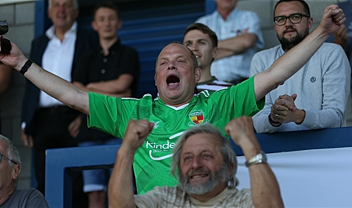 First-half - second Nantwich Town goal - fans celebrate (1)