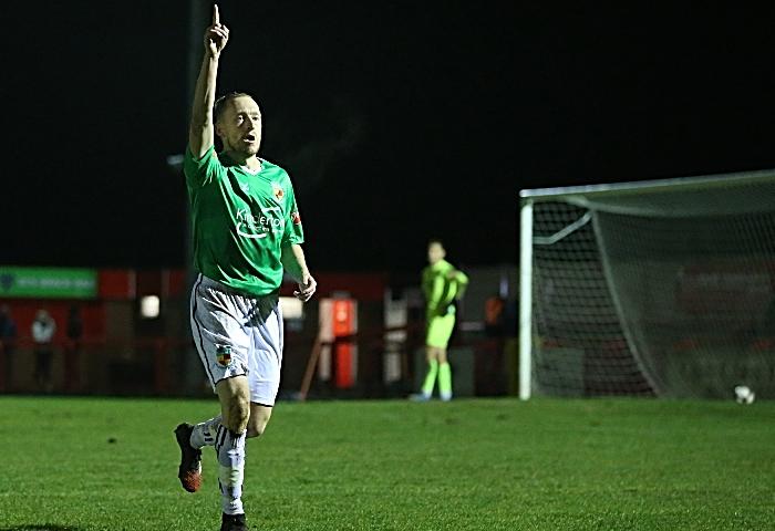 First-half - second Nantwich goal - Scott McGowan celebrates his second goal (1)