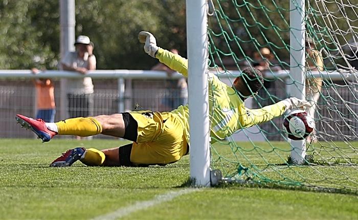 First-half - second Nantwich goal - Sean Cooke freekick beats Witton keeper Chris Renshaw into the bottom corner (1)
