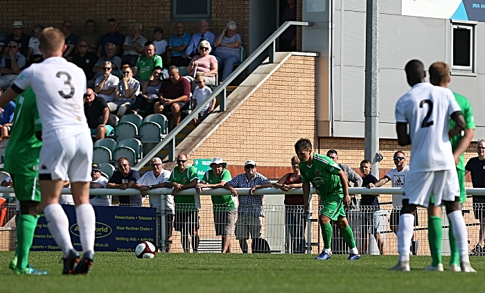 First-half - second Nantwich goal - Sean Cooke prepares to fire his freekick (1)