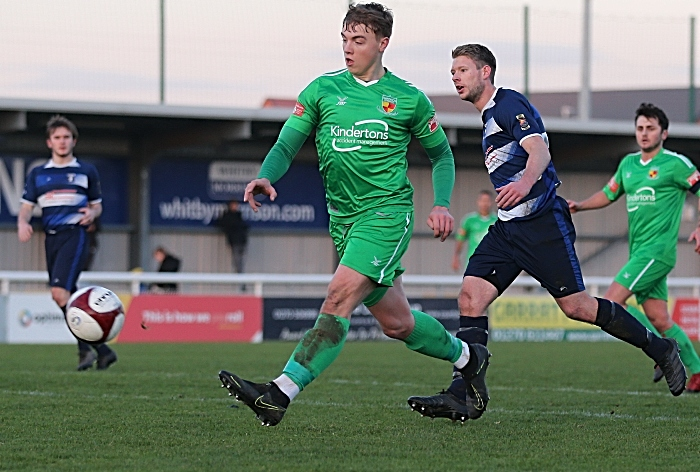 First-half - third Nantwich goal - Connor Heath chips opposition keeper for his second goal (1)