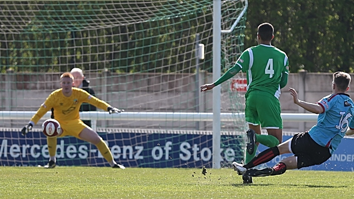 First-half - winning goal - substitute Jiri Boula fires across Lloyd Allinson to score (1)