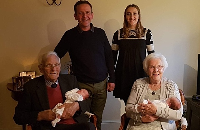 Five generations of great great grandmother Edith Brough
