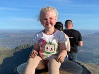 Nantwich girl, 3, climbs Snowdon for hospital that saved baby sister