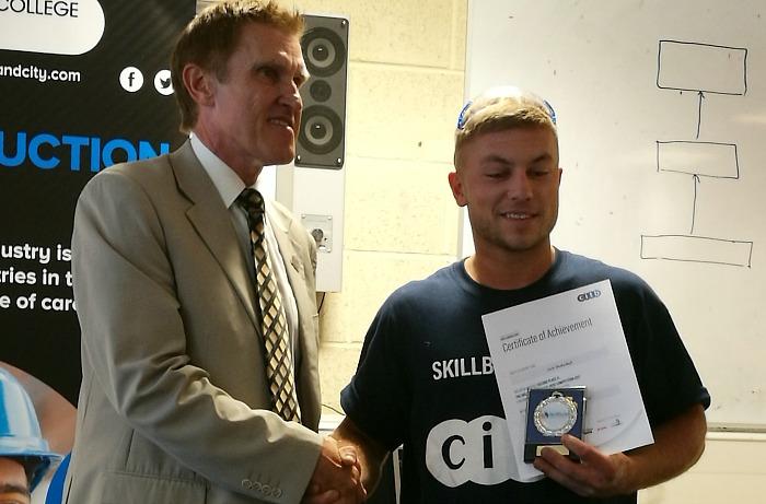 bricklaying student Jack Shakeshaft second place at SkillBuild
