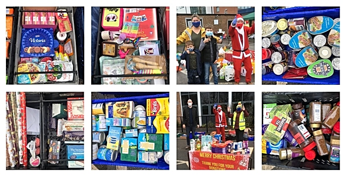 Foodbank collection at brine leas