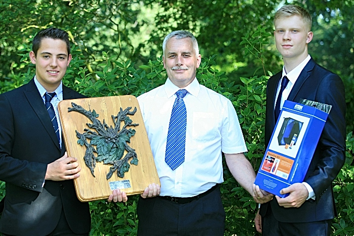 Forestry and Arboriculture Fergus Simister, Alan Mottram (course manager), Louis Mitchell (1)