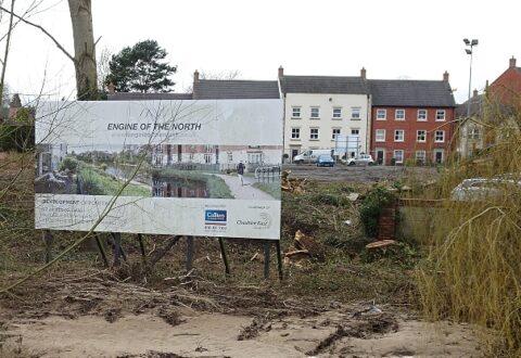 "Work starts on major ""Cultural Quarter"" riverside development in Nantwich"