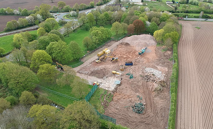 Former Redsands site in Willaston - aerial shot